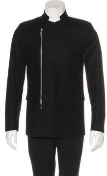 Christian Dior Wool Asymmetrical-Zip Blazer