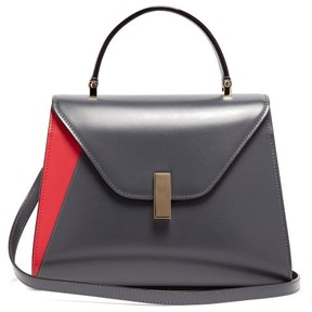 Valextra Iside Medium Leather Bag - Womens - Grey Multi