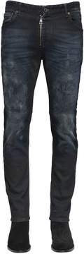 Just Cavalli 17cm Washed Stretch Denim Skinny Jeans