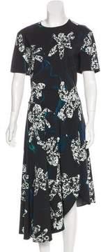 Cédric Charlier Asymmetrical Midi Dress