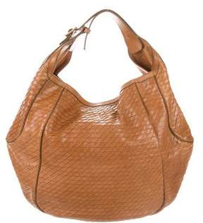Givenchy Embossed Leather Hobo