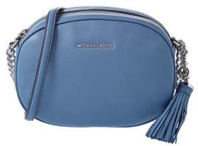 MICHAEL Michael Kors Ginny Leather Messenger. - DENIM - STYLE