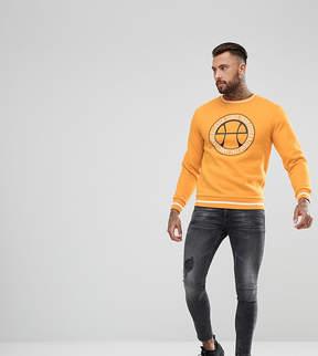 Ellesse Sweatshirt With Vintage Logo In Yellow
