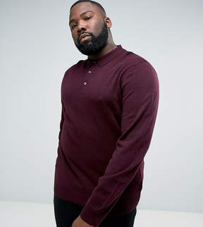 French Connection PLUS Knitted Long Sleeve Polo