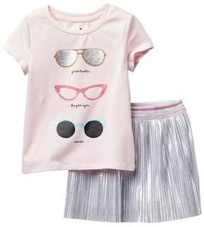 Kate Spade Sunglasses Tee and Skirt 2-Piece Set (Toddler & Little Girls)
