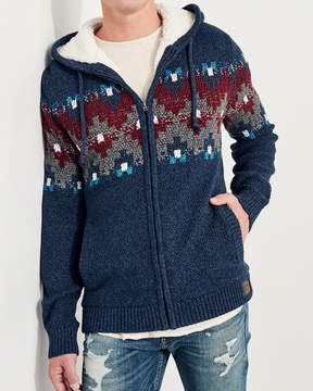 Hollister Sherpa-Lined Hooded Sweater