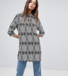 Noisy May Tall Maci Animal Print Shirt