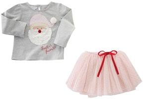 Mud Pie Santa Skirt Set Girl's Active Sets