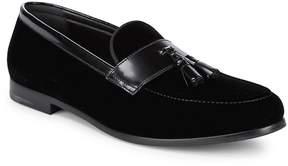 Giorgio Armani Men's Velvet & Leather Loafers