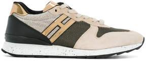 Hogan colour block panelled sneakers