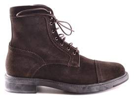 Santoni Men's Brown Suede Ankle Boots.