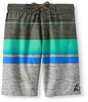 Trunks Laguna Boys' Gnarly Stripe Swim Trunk With Upf50 Sun Protection