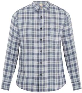 Faherty Reversible Belmar checked cotton shirt