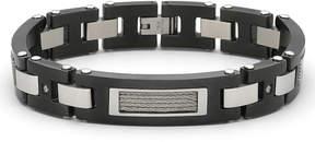 JCPenney FINE JEWELRY Men's Diamond-Accent Bracelet Stainless