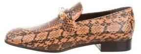 Joseph Snakeskin Embellished Loafers w/ Tags