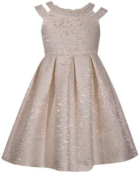 Bonnie Jean Girls 7-16 Sleeveless Rose Brocade Pleated Skirt Dress