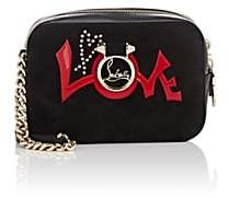 Christian Louboutin Women's Rubylou Suede & Leather Crossbody Bag - Black