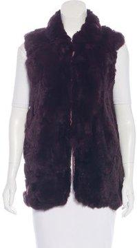 Adrienne Landau Fur Oversize Vest