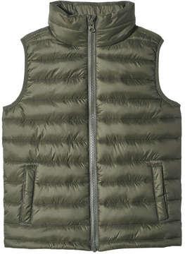 Joe Fresh Kid Boys' Zip-Up Liner Vest, Dark Olive (Size S)