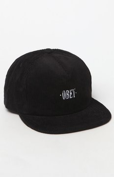 Obey Posted Corduroy Snapback Hat