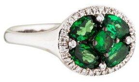 Amrapali 18K Tsavorite & Diamond Cocktail Ring