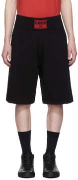 Givenchy Black Distressed Logo Boxing Shorts
