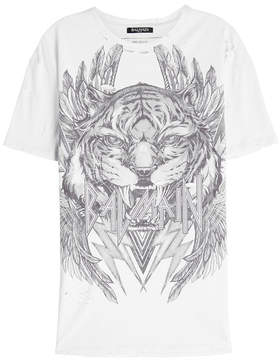 Balmain Printed Cotton T-Shirt