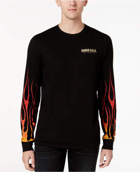 GUESS Men's Graphic-Print Long-Sleeve T-Shirt