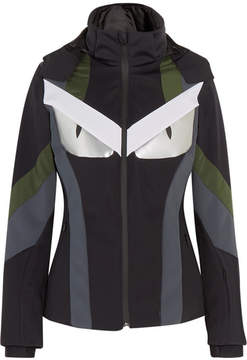 Fendi Wonders Paneled Hooded Ski Jacket - Black