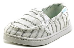 Roxy Lido Iii Toddler Round Toe Canvas White Loafer.