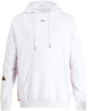 Off-White Tape hooded cotton sweatshirt
