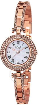 Burgi Mother of Pearl Dial Rose Gold-tone Brass Case Ladies Watch