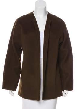 Brooks Brothers Collarless Wool Jacket