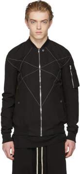 Rick Owens Black Cross Hexagon Flight Jacket