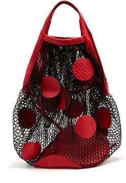 Maison Margiela Polka-dot fishnet shoulder bag