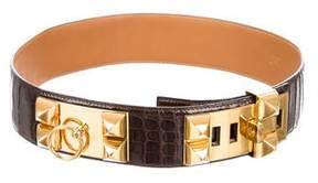 Hermes Alligator Collier De Chien Waist Belt