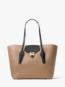 Michael Kors Bancroft Calf Leather Tote - NATURAL - STYLE