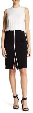 Atelier Luxe Ponte Comfort Waist Pencil Skirt (Petite)