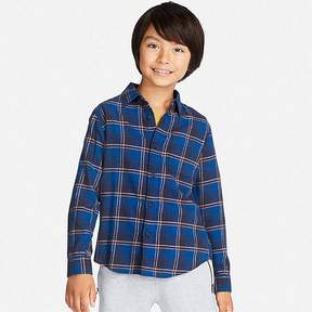 Uniqlo Boy's Flannel Check Long-sleeve Shirt