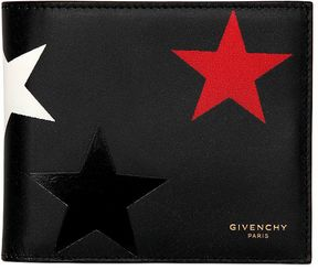 Stars Printed Leather Classic Wallet