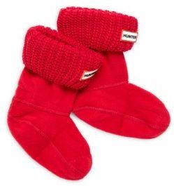 Hunter Girl's Knit-Cuff Boot Socks