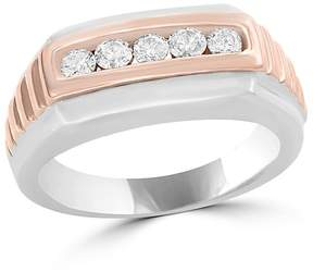 Bloomingdale's Diamond Men's Band in 14K White and Rose Gold, .45 ct. t.w. - 100% Exclusive