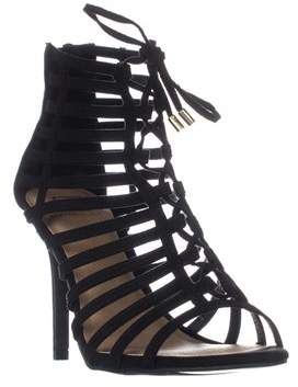 Material Girl Mg35 Raquel Gladiator Ankle Booties, Black.