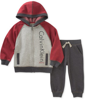Calvin Klein 2-Pc. Fleece Hoodie & Jogger Pants Set, Baby Boys (0-24 months)