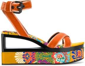 Casadei velvet sandals