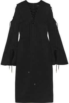 Ellery Crescendo Lace-up Crepe Midi Dress - Black