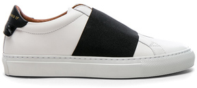 Givenchy Leather Urban Street Elastic Strap Low Sneakers in White.
