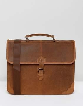 Asos Satchel In Tan Leather