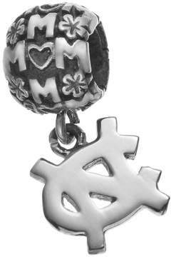 Dayna U Sterling Silver North Carolina Tar Heels Team Logo Mom Charm