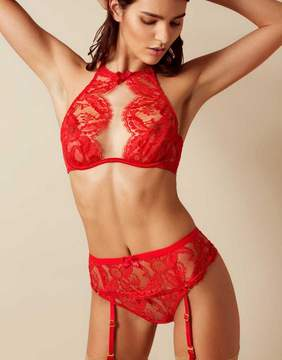 Agent Provocateur Kendall Suspender Red